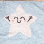 Детский стираемый ковер «Mr. Wonderful - Счастливая звезда» голубой. Состав 100% хлопок. Производитель ТМ «Lorena Canals» , Испания