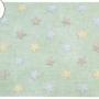 Детский стираемый ковер «Триколор Звезды Stars Tricolor» мятный. Состав 100% хлопок. Производитель ТМ «Lorena Canals» , Испания