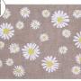 Детский стираемый ковер «Веселые ромашки» бежевый. Состав 100% хлопок. Производитель ТМ «Lorena Canals» , Испания