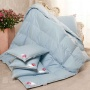 «Камелия» голубое. Теплое пуховое кассетное одеяло. 90% серый гусиный пух (экстра), 10% перо. Лёгкие сны, Россия