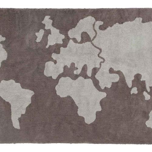 Карта мира. Детский стираемый ковер. Состав 100% хлопок. Производитель ТМ «Lorena Canals» , Испания