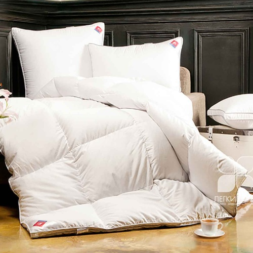 «Лоретта». Теплое пуховое кассетное одеяло. 95% серый гусиный пух (экстра), 5% перо. Лёгкие сны, Россия