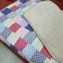 Одеяло Верблюд Капучино Пэчворк. Шерстяное тканое одеяло. 30% верблюжий пух, 70% открытая шерсть мериноса. ТМ Magicwool (Монарх), Россия