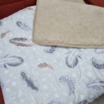 Одеяло Верблюд Капучино Перышки. Шерстяное тканое одеяло. 30% верблюжий пух, 70% открытая шерсть мериноса. ТМ Magicwool (Монарх), Россия
