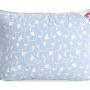 «Камелия» (голубой) подушка пуховая средняя. Серый гусиный пух 1 категории 85% пуха, 15% пера. Производство ТМ «Легкие Сны», Россия
