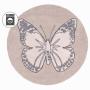 Бабочка винтажный бежевый Детский стираемый ковер. Состав 100% хлопок. Производитель ТМ «Lorena Canals», Испания