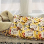Детский шерстяной конверт-одеяло «Мишки желтыеМеринос Облако Бежевое». Состав 100% шерсть мериноса. ТМ «MagiсWool», Россия