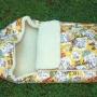 Детский шерстяной конверт в коляску «Мишки желтыеМеринос Локон»