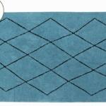 Детский стираемый ковер «Bereber Берберский» бирюзовый. Состав 100% хлопок. Производитель ТМ «Lorena Canals» , Испания