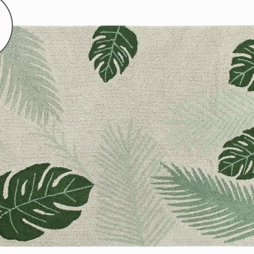 Детский стираемый ковер «Тропики» зеленый. Состав 100% хлопок. Производитель ТМ «Lorena Canals» , Испания