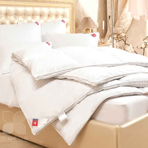 «Камилла». Теплое пуховое кассетное одеяло. 95% серый гусиный пух (экстра), 5% перо. Лёгкие сны, Россия