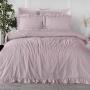 Постельное белье KARNA хлопок STONEWASH (Грязно-розовый). Ткань вареный хлопок. Состав 100% хлопок. Производство ТМ «KARNA» («Карна»), Турция