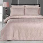 Постельное белье бамбук KARNA VIERA (Грязно-Розовый). Комплект постельного белья бамбук-хлопок. Состав 50% бамбук, 50% хлопок. Ткань Бамбук-Жаккард. Постельное белье Karna (Карна), Турция