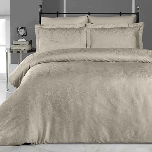 Постельное белье бамбук KARNA VIERA (Кофейный). Комплект постельного белья бамбук-хлопок. Состав 50% бамбук, 50% хлопок. Ткань Бамбук-Жаккард. Постельное белье Karna (Карна), Турция