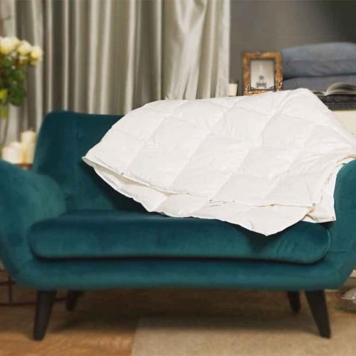 Trois Couronnes Pleasure Light. Легкое пуховое стеганое одеяло. 100 белый гусиный пух сибирской породы. Trois Couronnes, Швейцария