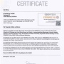 Brinkhaus (БринкХаус) Сертификат