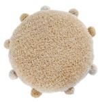 Подушка детская интерьерная круглая с помпонами медовая. 100 хлопок. Lorena Canals, Испания