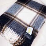Шерстяной плед с кистями Денали. 100 новозеландская овечья шерсть. Производитель Klippan Saule (Клиппан Сауле), Латвия