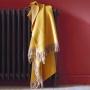 «KATMANDOU CURRY» шерстяной плед с кистями. Плед 100% шерсть мериноса. ТМ «Blanc des Vosge», Франция