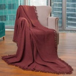 «Лотос темно-коричневое». Покрывало 100% хлопок. ТМ «Коронатекс», Индия