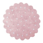 Печенька Little Biscuit розовый. Детский стираемый ковер. Состав 100% хлопок. Производитель Lorena Canals, Испания