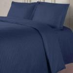 LINE синий. Постельное белье сатин 100 хлопок Karna (Карна) Турция