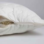 Подушка стеганая двусоставная «ODEJA ORGANIC Pillow» регулируемая. Наполнитель 100% органический хлопок- 100% шерсть мериноса. Производство ТМ «Odeja», Словения